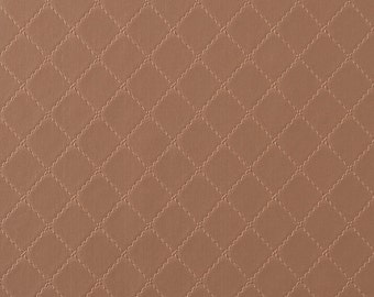 Ease Geometric Stitched Wallpaper Brown R1816