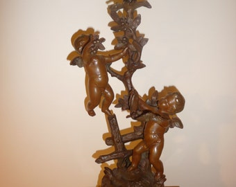 Antique French figural oil lamp with cherubs by Kossowski – circa 1890