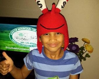 Crochet Mr. Crabs Hat