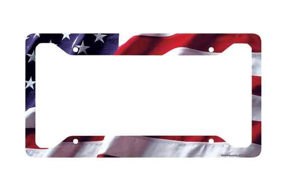 NEW USA AMERICAN FLAG ABS PLASTIC LICENSE PLATE FRAME TAG COVER CAR SUV /& TRUCK