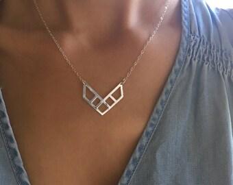 Geometric City Chevron Necklace