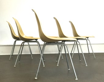 Eames Molded Fiberglass Side Chairs for Herman Miller