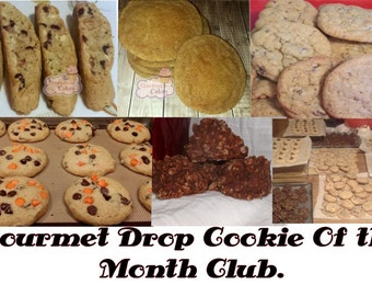 Cookie of the Month club Gourmet Cookie Option. 3, 6 or 12 month subscriptions. Dozen or Two Dozen options.