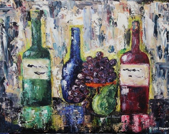 Wine Bottles 18x24