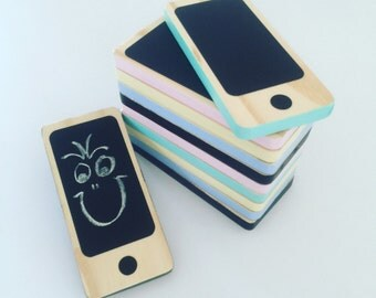 iPhone Chalkboard, iphone toy, toy phone, chalkboard, toy, wooden toy