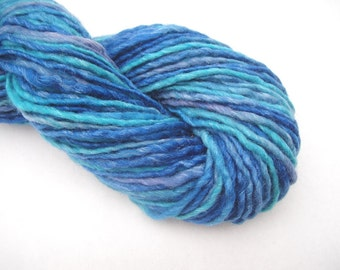Hand spun yarn, hand dyed yarn, worsted weight yarn, 100 yards, handspun yarn, handdyed yarn
