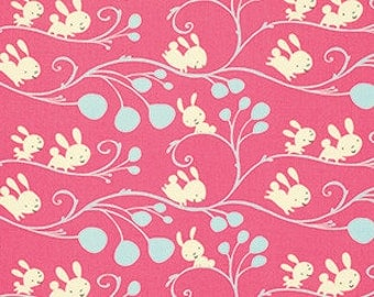 SALE! Fabric of the Week 2.00/Yard  - Vine in Pink, Garden Collection by David Walker for Free Spirit Fabrics 4179