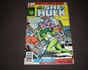 "Savage She Hulk 2, (1980),  ""Deathrace!, Bruce Banner cameo, Marvel C13"