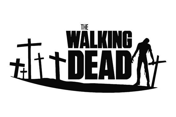 The Walking Dead Stacked Logo Amc Zombie Walker By