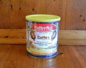 Vintage Butternut Coffee Can in Very Nice Condtion