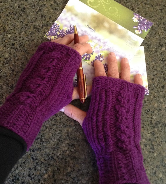 Fingerless Gloves for Two - two loom knit patterns