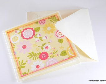 """Blank note cards, (set of 5) """"The Sweetest Day"""" (Handmade)"""