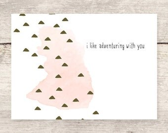 I Like Adventuring With You greeting card