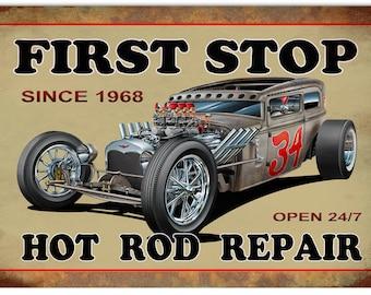 "Hot Rod Repair sign 12""x18"" RG317"