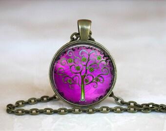 TREE OF LIFE Pendant • Purple  Tree Of Life • Strength • Wisdom • Beauty • Boho Chic • Gift Under 20 • Made in Australia (P0415)