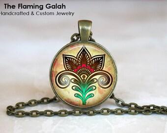 LOTUS FLOWER Pendant • Peace Flower • Buddhist • Hindu • Spiritual • Good Fortune Jewelry • Gift Under 20 • Made in Australia (P0149)