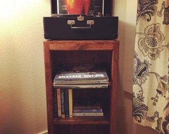 Rustic Book Case 36'' H x 18'' W x 12'' D     Media Storage Vinyl Record DVD Books Shelf Shelving Storage Display