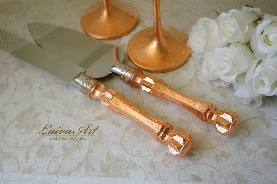 gold wedding cake server set knife cake cutting set wedding. Black Bedroom Furniture Sets. Home Design Ideas