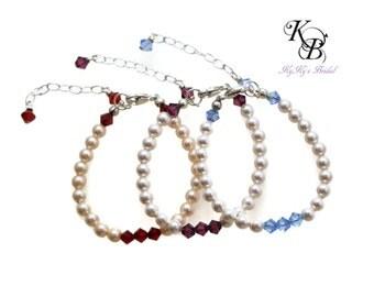 Baby Bracelet, Birthstone Bracelet, Baby Shower Gift, Baby Jewelry, Keepsake Bracelet, Birthstone Jewelry, New Baby Gift, Custom Bracelet