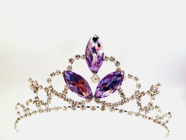 Purple Crown Purple Tiara PRINCESS SOFIA Rhinestone Tiara