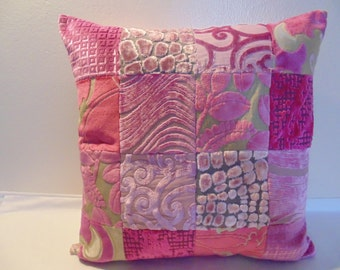 Designers Guild Fabric Pink Gorgeous Patchwork Cushion Covers / Pillow 50x 50 cm