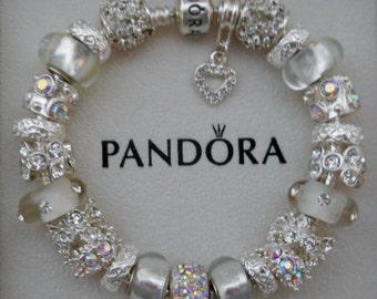 Pandora Bracelet or non-branded European charm bracelet~Free Shipping~Pandora hinged gift box!