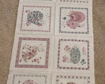 Vintage Quilting Squares Animal Prints
