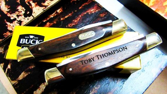 Buck Knives Wedding Gift : Personalized Buck Knife, Groomsmen Pocket Knife, Gift for Ushers, Gift ...