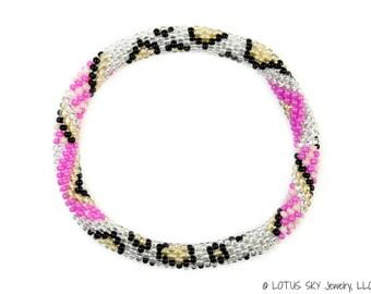 Beaded Nepal Roll On Bracelet, Nepal Bracelet, Handmade Beadwork Bracelet, Artisan Boho Bracelet, Surfer Beach Bracelet Bangle- S-74