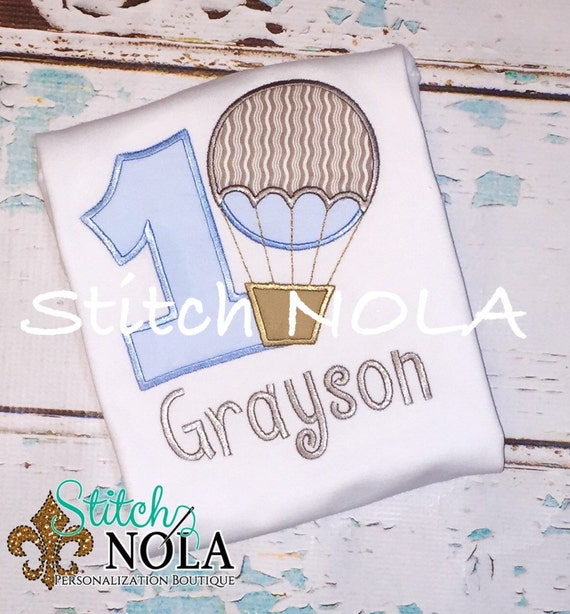 Hot Air Balloon Birthday Shirt or Bodysuit