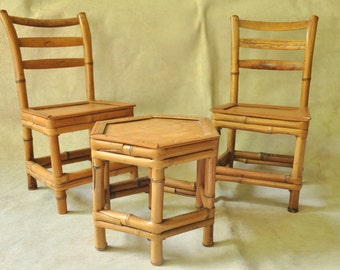 Set of 2 chairs and a table for dolls