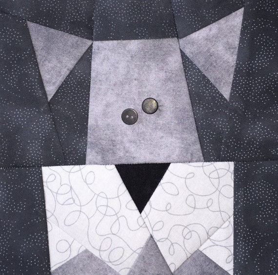 Schnauzer Paper Pieced Block Pattern In Pdf
