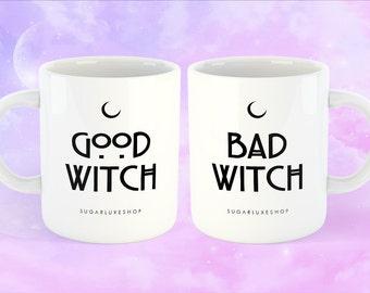 Good Witch, Bad Witch | White Coffee Mug - Halloween Edition