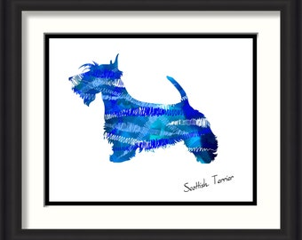Scottish Terrier Dog Word Art