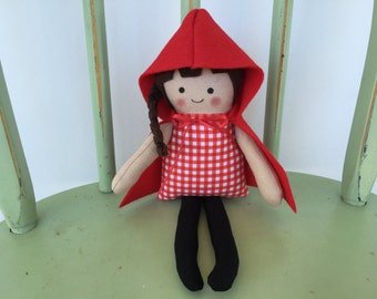 Little Red Riding Hood, Classic Story Handmade Doll.