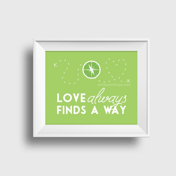 "Disney Art Print, Wall Art For Kids Room Decor, ""Love"