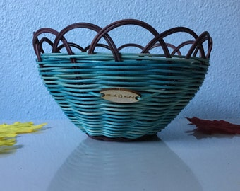 Woven Basket: 'Oil & Water Don't Mix' Authentic Native American Made pencil holder