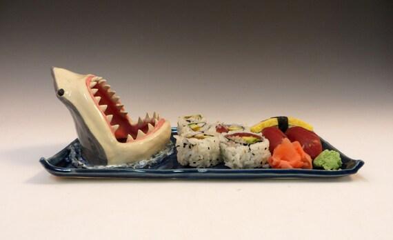 Shark Sushi Plate by aviceramics on DeviantArt
