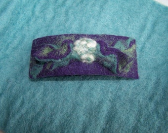One of a kind Needle Felted Barrette Artisan Designed