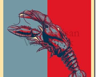 Lobster Original Art Print - Photo Poster Gift