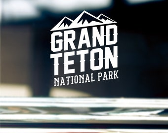 Grand Teton Sticker For Car Window, Bumper, Or Laptop