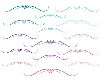 Flourish divider clip art, swirl divider, swirl clipart dividers, wedding flourish, wedding swirl divider, Commercial Use, Instant Download