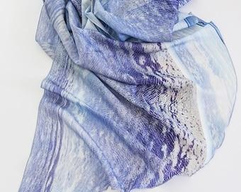 Silk Scarf Sarong - AZURE