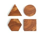 Geometric Wood Coaster Set