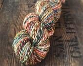 PATHWAYS handspun yarn, superwash merino, spinning, wool, hand dyed