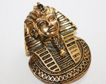 Eqyptian Pharaoh Brooch, Vintage 1980's