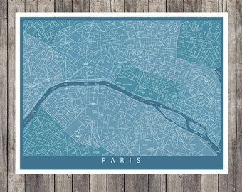 Paris Map, wall map, Map of Paris France