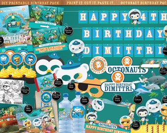 Octonauts - Printable Birthday Party Pack - DIY - Print. Cut. Make. including Invitation, labels, streamer, signage, cutouts and much more
