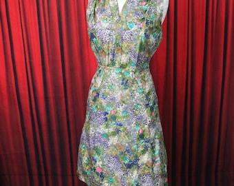 Vintage Watercolour Print Day Dress