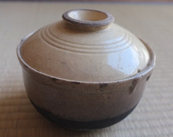 Clay Lidded Japanese Bowl for Udon, Ramen, Rice, Soups